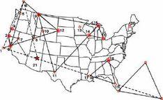 map of oregon laylines   VortexMaps.com Authentic Vortexes Around North America