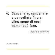 Citazioni di design: Achille Castiglioni
