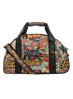 Marvel Comic Collage Gym Bag   Hot Topic