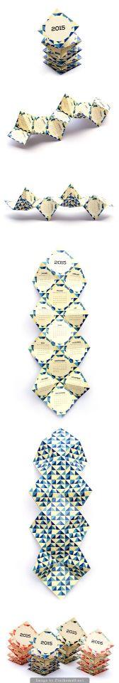 Calendario origami