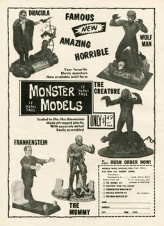 Ads - The First Five Monster Models