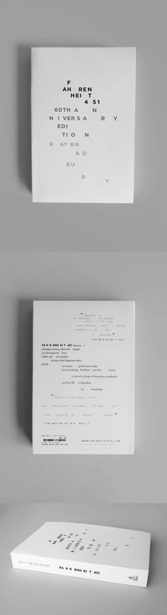 Farenheit 451 by Ray Bradbury, via Behance