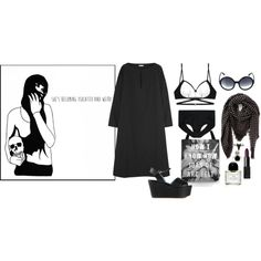 """She's becoming isolated and weird"" by ghoulnextdoor on Polyvore"