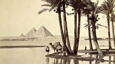 Pyramids of Giza, Egypt circa 1890