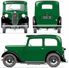 Image detail for -The-Blueprints.com - Blueprints > Cars > Austin > Austin 7 Ruby (1937)