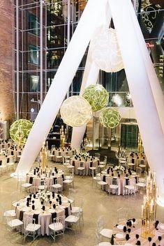 Photo Credit: Mango Studios   Planner: Swoon Events   Venue: Ricarda's   Florist: The Social Rose   Décor & Rentals: Chair-man Mills   Linen Rentals: Around the Table