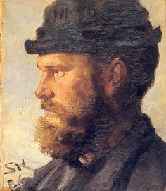 Michael Ancher, 1886 by  Peder Severin Kroyer (Danish, 1851-1909)