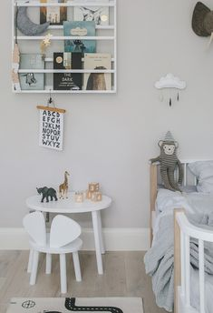 a scandinavian style bedroom for benjamin Scandinavian Style Bedroom, Scandinavian Kids Rooms, Scandinavian Interior, Home Interior, Interior Design, Cloud Decoration, Kids Room Design, Black Decor, Kids Decor
