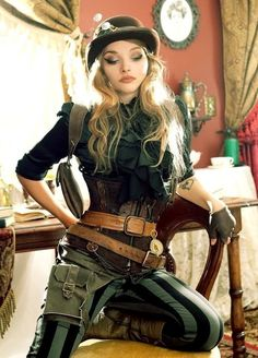 Steampunk its more than an aesthetic style, it's the longing for the past that never was. In Steampunk Girls we display professional pictures, and illustrations of Steampunk, Dieselpunk and other anachronistic 'punks. Some cosplay too! Steampunk Cosplay, Chat Steampunk, Viktorianischer Steampunk, Steampunk Clothing, Casual Steampunk, Steampunk Wedding, Steampunk Bedroom, Steampunk Outfits, Steampunk Pants