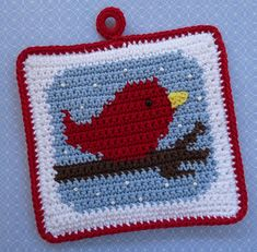 Red Bird in the Snow, pattern available from Doni Speigle's store on Ravelry.