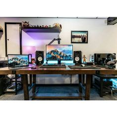 """1,108 Likes, 3 Comments - Mal - www.andromedacomputer.net PC Builds and Setups (@pcgaminghub) on Instagram: """"A clean and minimalistic setup. I adore the LED under lighting, it's not overdone at all and fits…"""""""