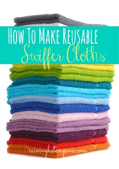 How To Make Reusable Swiffer Cloths!!!