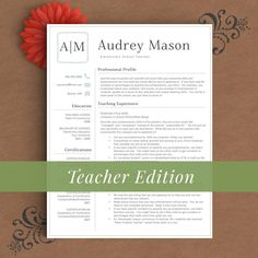Teacher Resume Template for Word and Pages 1 by TheTemplateStudio