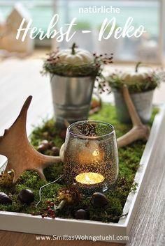 DIY natürliche Deko im Herbst mit Naturmaterialien Smillas Wohngefühl #herbst #diy #Kürbis #natürlich #deko