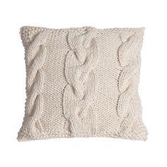 eu.Fab.com   Knitted Cushion Natural 40x40