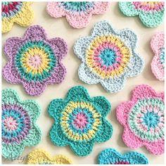 atty's: Happy Flower Crochet Coasters