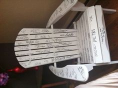 My wedding guest book :) ~WOW! What an Idea! I wonder if you can take it apart and take back home?~