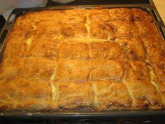 Χριστουγεννιάτικη πίτα γαλοπούλας 2 φύλλα σπιτική σφολιάτα 3 φλιτζάνια ψιλοκομμένη γαλοπούλα ( αυτή που μας περίσσεψε από τα Χρισ... Lasagna, Bread, Ethnic Recipes, Desserts, Buns, Pastries, Food, Tailgate Desserts, Deserts