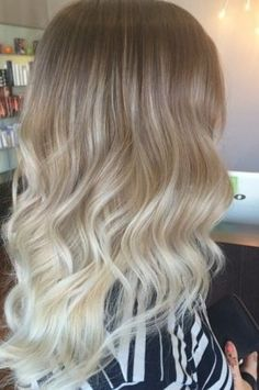 Baby Blonde Ombre- Ash blonde hair looks