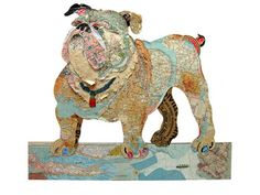 Peter Clark is an epically-talented collage artist who focuses much of his expertise on creating dog collage portraits.