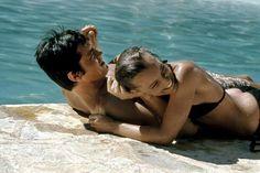 Alain Delon and Romy Schneider #cinema