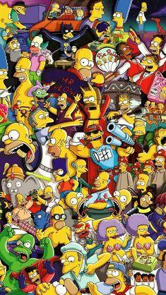 The simpsons phone wallpaper Simpson Wallpaper Iphone, Cartoon Wallpaper Iphone, Apple Wallpaper, Cute Cartoon Wallpapers, Disney Wallpaper, Iphone Cartoon, Tumblr Wallpaper, Graffiti Wallpaper, Galaxy Wallpaper