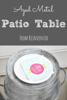DIY Aged Metal Table From Reinvented
