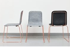 New copper chair by Richard Hutten for Lensvelt. Presented today in Milan at Salone del Mobile 2015.