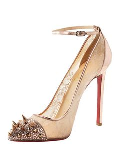 Picks & Co Potpourri Spiked Toe & Lace Pump by Christian Louboutin.