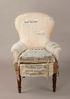 Burlap chair. Draga Obradovic
