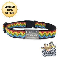 Rainbow Dog Collar 2015  Personalized Dog Collar w/ FREE