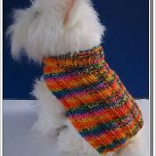 Basic Ribbed Knitted Dog Sweater  - via @Craftsy