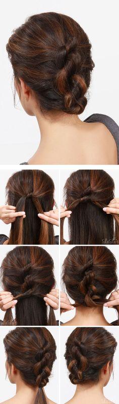Как красиво собрать волосы сзади фото причесок