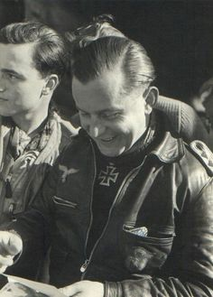 """Josef """"Pips"""" Priller (1915-1961) was a German World War II fighter ace. He became famous because of his single strafing pass attack over Sword Beach on D-Day, accompanied by his wingman, Heinz Wodarczyk. Contrary to popular belief, however, Priller and Wodarczyk were not the only Luftwaffe pilots to attack the beaches or the Allies on June 6, 1944. Priller was awarded the Knight's Cross of the Iron Cross with Oak Leaves and Swords for his extreme bravery and success in aerial combat."""