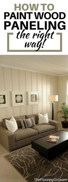 Painting wood paneling to make it look cottagey instead of - Paint colors to make a room look brighter ...