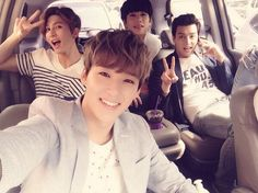 Have an awesome day! SMILE~~~: ( Kevin's twitter) Kiseop, Jun, Kevin, Eli