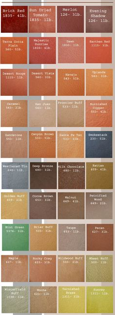 This line of integral colors offered by Decorative Concrete Floors Supply offers 40 exquisite concrete coloring options.