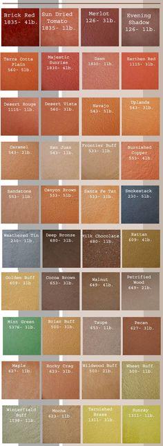 7 Best Integral Color Color Charts images Concrete color, Concrete