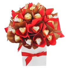 Show how much you care and be guaranteed to steal a heart with the spectacular Valentine Velvet chocolate bouquet. Even from a secret admirer, this beautiful bouquet certainly symbolises a whole lot of loving! Ferrero Rocher Bouquet, Money Lei, Chocolate Bouquet, Fruit Arrangements, Candy Bouquet, Valentines, Valentine Ideas, 4th Of July Wreath, Gift Baskets