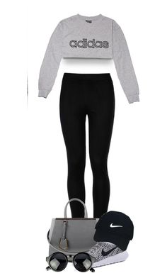 """""""Jogs around the park"""" by tigerlily789 ❤ liked on Polyvore featuring adidas, Wolford, Fendi and Nike Golf"""