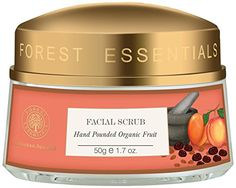 Face Skin Care Forest Essentials Hand Pounded Organic Fruit Scrub -- You can get additional details at the image link. Organic Face Wash, Organic Skin Care, Natural Skin Care, Exfoliating Face Scrub, Exfoliate Face, Proactive Skin Care, Acne Spot Treatment, Drugstore Skincare, Organic Fruit