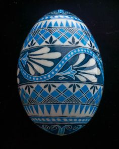 1100815 7 Floral Band Ice Blue Goose Egg