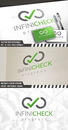 Infinite Check Logo — Vector EPS #tick check #pixels • Available here → https://graphicriver.net/item/infinite-check-logo/12184819?ref=pxcr