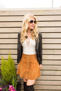 Loving the suede skirt!