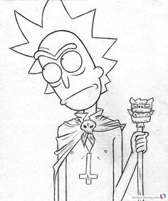 rick niccals from rick and morty coloring pages free printable coloring pages