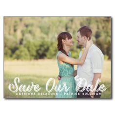 Rustic Save The Date Postcards & Postcard Template Designs