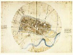 Leonardo da Vinci - Town Plan of Imola - 1502