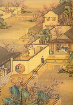 033 Japanese Garden Landscape, Chinese Landscape Painting, Chinese Garden, Chinese Painting, Chinese Art, Landscape Paintings, Chinese Design, Zaha Hadid Architecture, Chinese Architecture