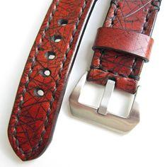 Retro,+hnědý+pásek+na+hodinky+24mm+Šírka+24mm+Dĺžka:+podľa+želania+Materiál:+koža+Vyrobím+podľa+požiadavky.+Potrebujem+Váš+obvod+zápästia.