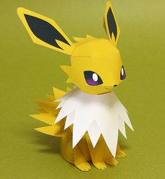 Pokemon Jolteon Paper Model